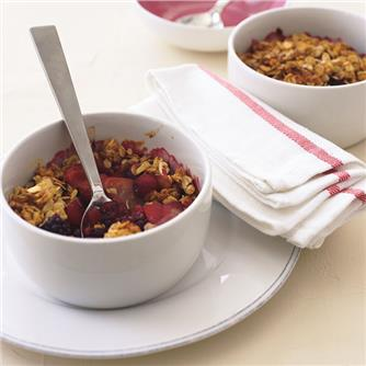 CD Apple and berry crumble