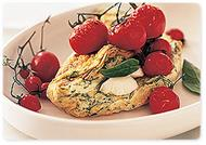 Egg white omelette with grilled tomato salad