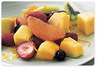 Fruit salad with orange honey syrup